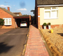 Driveway and path
